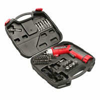 Great Working Tools 45 Piece Cordless Power Screwdriver Set - 3.6v Battery, Case