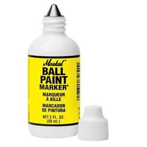 Markal 84621 yellow ball end paint metal marker