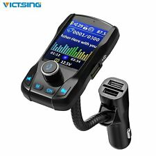 "1.8"" Screen Bluetooth Car FM Transmitter MP3 Player Hands free Radio Adapter Kit"