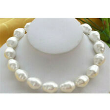 """Fashion 20mm White Baroque South Sea Shell Pearl Necklace 18"""""""