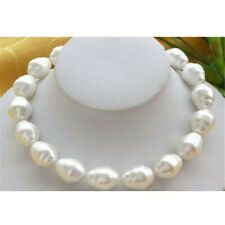 """Huge Large Fashion 20mm South Sea White Baroque Pearl Necklace 18"""" Wedding Diy"""