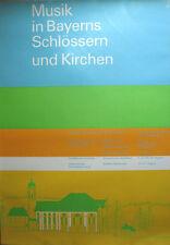 Poster Plakat - Musik in Bayerns Schlösser - Olympiade 1972 München - Otl Aicher
