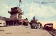 THE TOWER AND HOTEL ON MT. PENN READING, PA 1914