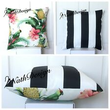 Tommy Bahama Indoor/Outdoor 45cm Bird / Black And White Stripes Cushion Cover