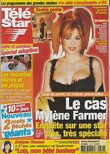Télé Star N°1320 - 14/01/2002 - Mylène Farmer + Double Poster - Angelina Jolie -