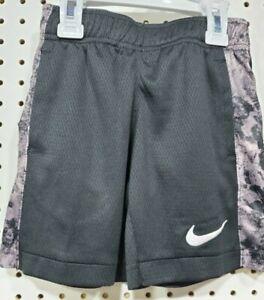 Boys Kids Youth NIKE DRY Athletic Training shorts Black Embroidered NEW Size 4