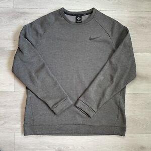 Nike Dri Fit Jumper Size Large L Mens Grey Pullover Sweatshirt