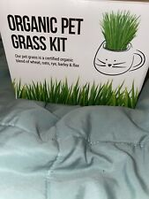 Organic Pet Grass Kit By The Cat Ladies Black cup New