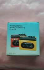 INTERNATIONAL Stereo Cassette Player Model al-18 - IN BOX and  WORKS