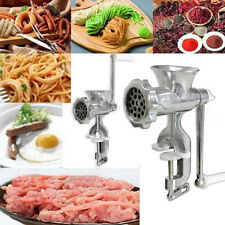 Heavy Duty Manual Meat Grinder Sausage Hand Crank Mincer Cast Iron Kitchen Tool
