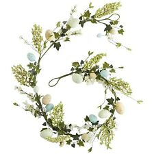 """PIER 1 IMPORTS SPECKLED EASTER EGGS FLORAL SPRING GARLAND 72""""/6ft NEW IN PK"""