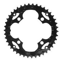 Vélo Plateau 104mm Cassettes en Métal pour Vélo de Montagne Vélo de Course Noir