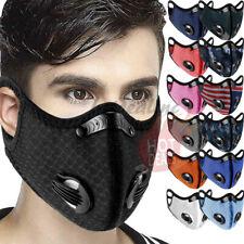 Reusable Outdoor Cycling Riding Air Purifying Face Mask Carbon Filter Valves
