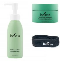 Boscia A Fresh Start Cleanser Exfoliating & Moisturizer Duo Set, Bonus Head Band
