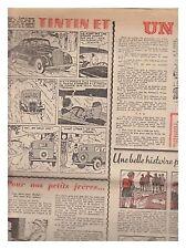 COEURS VAILLANTS  1940 N° 8 TINTIN BE+