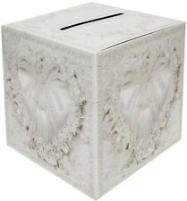 HEART WHITE WISHING WELL CARDS MONEY RECEIVING POST BOX WEDDING PARTY ACCESSORY