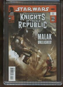 STAR WARS: KNIGHTS OF THE OLD REPUBLIC #42 CGC GRADED 9.8 WHITE PAGES 2009