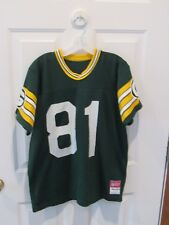 1980's GREEN BAY PACKERS FOOTBALL JERSEY SAND-KNIT NFL SZ ADULT LARGE # 81 LEWIS