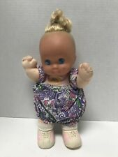 Vintage 1989 Mattel Magic Nursery Baby Doll W Complete Original Outfit Blue Eyes