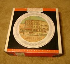 """Set of Four 10"""" Dinner Plates by Pamela Gladding 'The Grand Hotel Series'"""