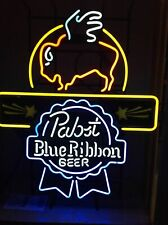 """New Pabst Blue Ribbon Buffalo Wild Wings Beer Neon Sign 24""""x20"""" Poster Light"""