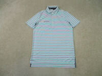 Ralph Lauren Polo Shirt Adult Small White Green RLX Golfer Lightweight Mens B33
