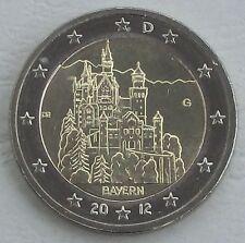 2 Euro Germania G 2012 neuschwans TEIN/Baviera unz