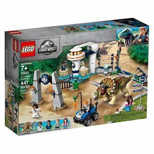 Lego 75937 Jurassic World Triceratopo Rampage Tema Parco Giocattolo Dinosauro