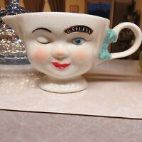 Baileys Winking Girl Creamer Limited Edition 1996  Irish Cream Bowl Pitcher