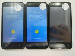 Lot of 3 Google Locked Alcatel 4060 Cricket/AT&T Check IMEI GLB/C LR-1501