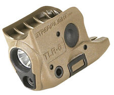 Streamlight 69278 TLR-6 Glock 42/43 Coyote Tactical Light, w/Red Aiming Laser