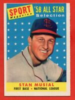 1958 Topps #476 Stan Musial EX-EXMINT+ HOF St. Louis Cardinals FREE SHIPPING