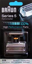 marron feuille de coupe perforée Bloc des lames 51S 8000 Series 5 Argent