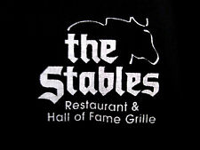 STABLES GRILLE Hall of Fame football restaurant med T shirt OHIO tee Horse logo
