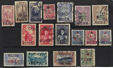 TURKEY CILICIA SYRIA 1919 1st LARGE HANDSTAMP COLL OF 17 INC SOME OF THE SCARCER