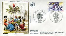 FRANCE FDC - 2701 1 REVOLUTION ARBRE DE LA LIBERTE - 1 Juin 1991 - LUXE sur soie