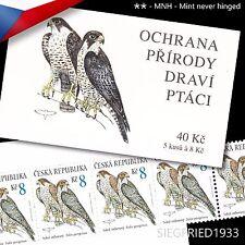 Czech Republic (2003) -- Birds of Prey, Falco peregrinus -- stamp booklet, MNH**