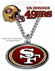 SAN FRANCISCO 49ERS NECKLACE STAINLESS STEEL CHAIN - NFL FOOTBALL -FREE SHIP CB
