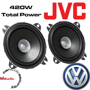 """VW Volkswagen Transporter T4 Front Dash 4"""" 10cm Dual Cone 420 Watts Van Speakers"""