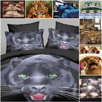 3D Effect Animal style 3 Piece Bedding Sets Duvet Cover Pillowcase Digital Print