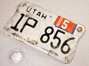 UTAH MOTORCYCLE LICENSE PLATE 1P 856