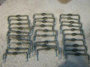 Lot of 29 Bird Cage Drawer Handles Pulls Brushed Metal