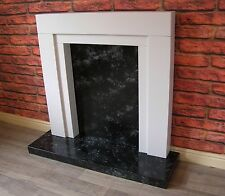 Modern Fire Surround with Marble Effect Hearth & Backplate