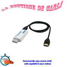 Cable HDMI + convertisseur adaptateur HDMI full HD 1080 pour Nintendo Wii Wii U