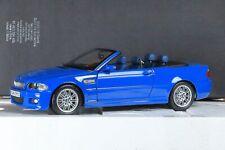 BMW M3 E46 Cabrio Bleu/Blue/Blau 1/18ème KYOSHO dealer edition 80430024432 RARE!