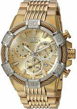 Invicta Herren Schrauben Quarz Uhr W / Edelstahl Band, Gold, 16 (Modell