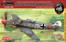 Kovozavody prostejov 1/72 MODELLO KIT cl7202 Messerschmitt BF 109g-6 PILOTA EBERLE