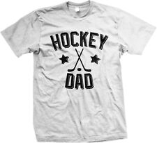 Hockey Dad Father Puck Ice Rink Helmet Team Supporter Son Kid Mens T-shirt