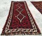 Authentic Hand Knotted Vintage Shrz Wool Area Rug 4 x 2 FT (2481 KBN)