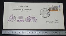ENVELOPPE 1er JOUR PHILATELIE 1969 CYCLISME 100 YEARS CYCLE INDUSTRY COVENTRY